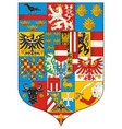 Great Coat of arms Austria 1915 Grossen Wappen vector image vector image
