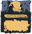 halloween greeting card with future witch vector image vector image