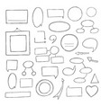 hand-drawn notes vector image vector image