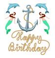 happy birthday marine retro greeting card clip art vector image