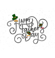 Happy Fathers Day lettering typography on textured vector image vector image