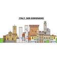 italy san gimignano city skyline architecture vector image vector image