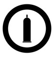 latex condom icon black color in circle vector image