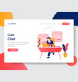 live chat concept vector image vector image