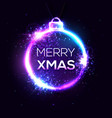 merry xmas background electricity abstract sign vector image vector image