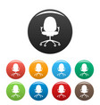 new chair icons set color vector image vector image