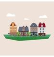 Old Vintage Country and City Houses vector image vector image