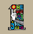 One Way vector image vector image