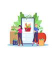 order grocery online vector image vector image