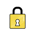 padlock element to security password protection vector image vector image