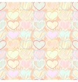 Pattern multicolored hearts vector image vector image