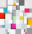 Retro Square Background vector image