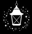 retro style christmas street lamp vector image