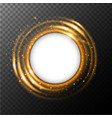 round frame template with orange light around it vector image