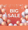 sale balloon banner shop offer fashion flyer vector image