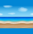 seamless beach landscape for summer backgrounds vector image vector image