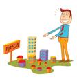 selling properties vector image vector image
