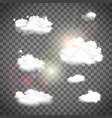 set natural clouds vector image