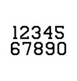 set numbers with black typography design vector image vector image