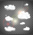 set of natural clouds vector image vector image