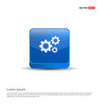 setting icon - 3d blue button vector image