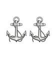 ship anchor symbol nautical concept vector image vector image