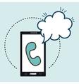 smartphone telephone cloud speak vector image