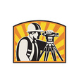 Surveyor Engineer Theodolite vector image vector image