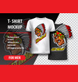 t-shirt mockup with indian side head fully vector image vector image