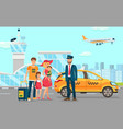 taxi services in airport flat vector image vector image