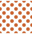 tile pastel pattern with big pastel brown dots on vector image vector image