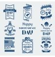 united states america independence day greeting vector image
