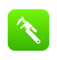 universal spanner icon green vector image