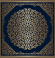 vintage gold round lace ornament vector image