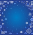winter background with blurred and clear snowflake vector image vector image