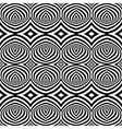 Black and White Opt Art Seamless vector image