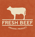 Premium beef label with grunge texture organic vector image