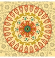 Circle ornament with many details vector image