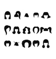 set of hairstyles for woman isolated vector image