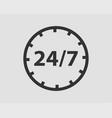 247 icon 24 hour service clock vector image vector image