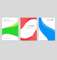 abstract brochure cards set art template vector image