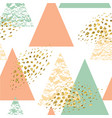 abstract hand drawn geometric seamless pattern vector image