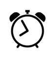 alarm clock icon in black vector image