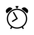 alarm clock icon in black vector image vector image