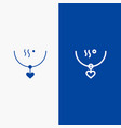amulet love marriage party wedding line and glyph vector image