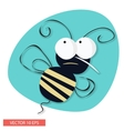 Angry Bee Cartoon vector image