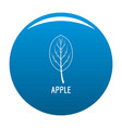 apple leaf icon blue vector image