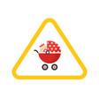 baby on board caution car road sign sticker vector image vector image