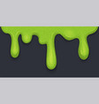 background of dribble slime flowing green sticky vector image