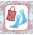 Bag nd boot vector image
